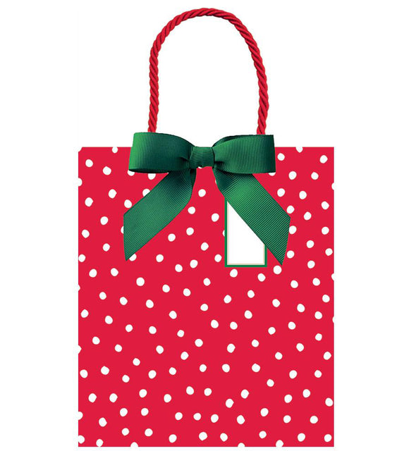 Caspari Painted Dots Large Gift Bag