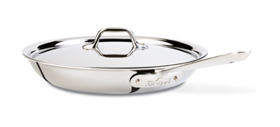 "All-Clad Stainless 12"" Fry Pan With Lid"