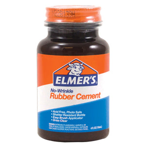 Elmer's No-Wrinkle Rubber Cement, 4 oz