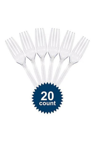 Disposable Plastic Forks – Pack of 20