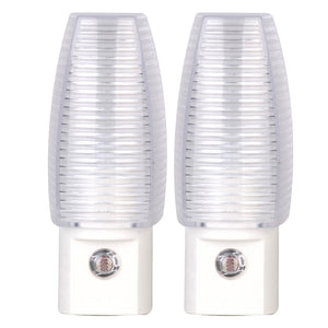 Incandescent Dusk To Dawn Automatic Night Light – White – Pack of 2