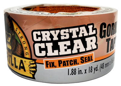 Crystal Clear Gorilla Tape – 1.88in x 18yd