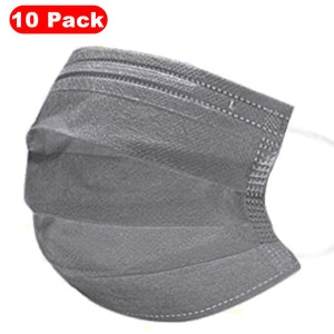 Disposable Face Mask – Gray – Pack of 10