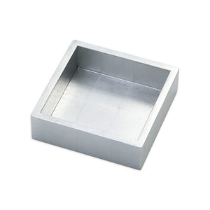 Caspari Lacquer Cocktail Napkin Holder in Silver