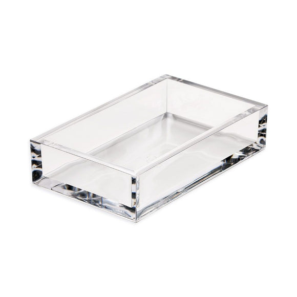 Caspari Acrylic Guest Towel Napkin Holder in Clear