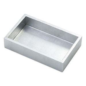 Caspari Lacquer Guest Towel Napkin Holder in Silver