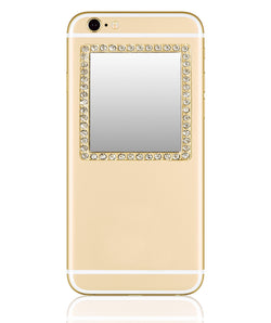 iDecoz Crystal Square Phone Mirror – Gold