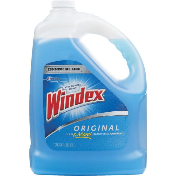 Windex Glass and Window Cleaner Refill – Original Blue – 1 Gallon