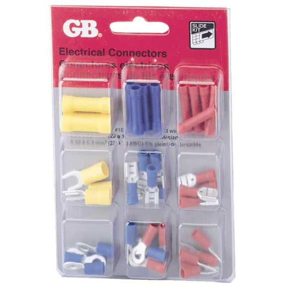 Insulated Crimp-On Terminal Connector Assortment – 40 Piece
