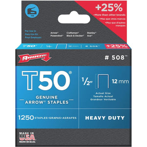 "Arrow T50 Staples – 1/2"" 12mm"