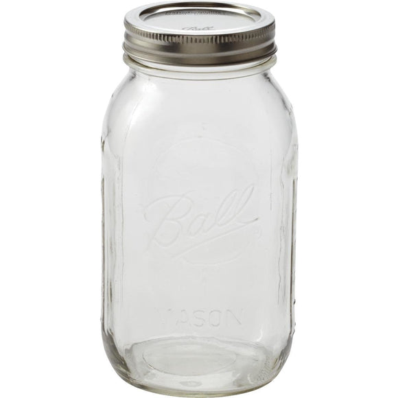 Ball Regular Mouth 32oz Mason Canning Jar – Single