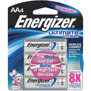 Energizer Ultimate Lithium AA Batteries – 4 Pack