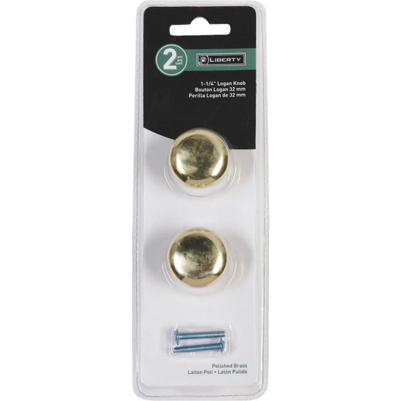 Brass Finish Knobs – Set of 2