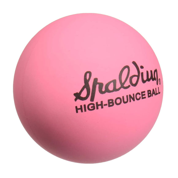 Spalding High Bounce Pink Rubber Ball