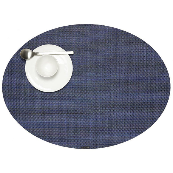 Chilewich Mini Basketweave Oval Placemat – Indigo