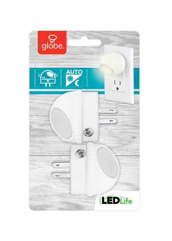 LED Swivel Dusk To Dawn Automatic Night Light – 2 Pack