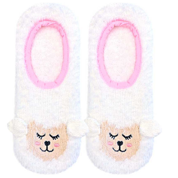 Living Royal Fuzzy Slippers – Lamb