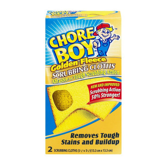 Chore Boy Golden Fleece Scrubbing Cloth – Box of 2