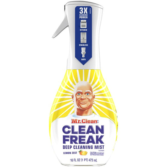 Mr. Clean – Clean Freak Deep Cleaning Multi Surface Mist Sprayer – Lemon Zest Scent– 16 OZ