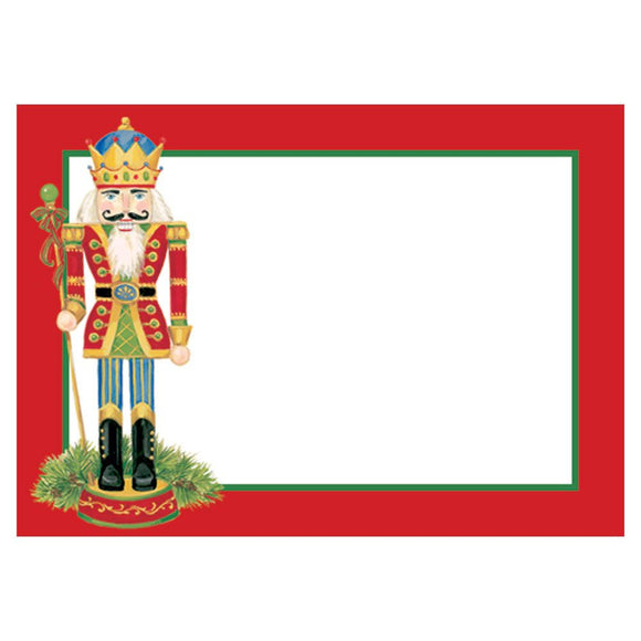 Caspari Nutcrackers Self-Adhesive Labels - 12pk