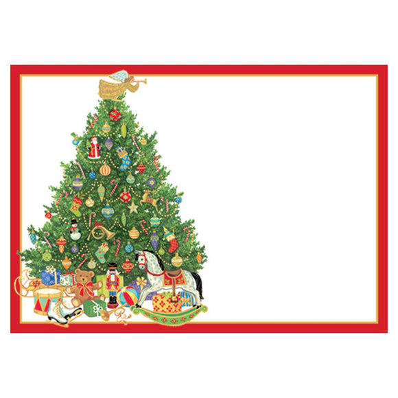 Caspari Oh Christmas Tree Self-Adhesive Labels - 12pk