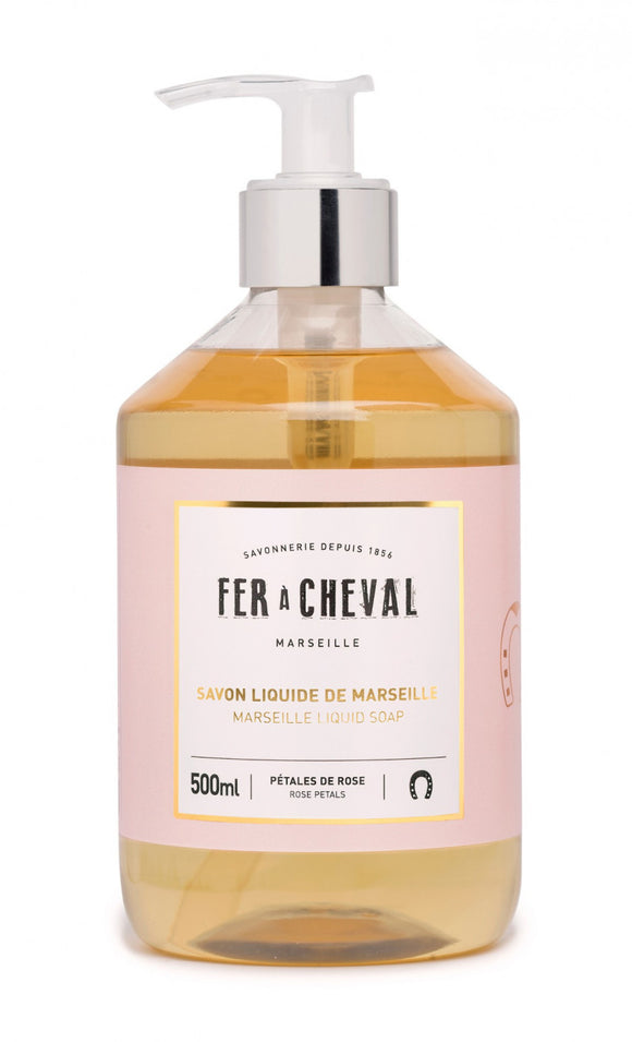 Fer A Cheval Marseille Liquid Soap – Rose Petals – 500ml
