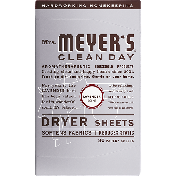 Mrs. Meyer's Lavender Dryer Sheets – 80pk