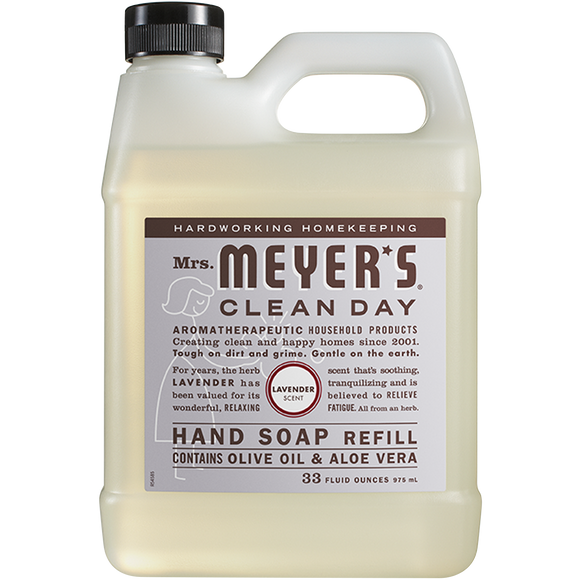 Mrs. Meyer's Lavender Liquid Hand Soap Refill – 33oz