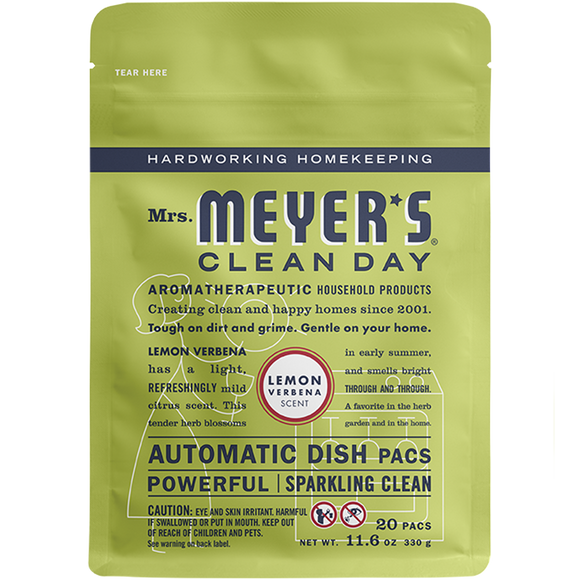 Mrs. Meyer's Lemon Verbena Automatic Dish Pacs – 20ct