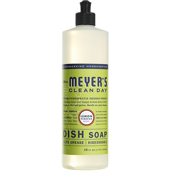 Mrs. Meyer's Lemon Verbena Dish Soap – 16oz