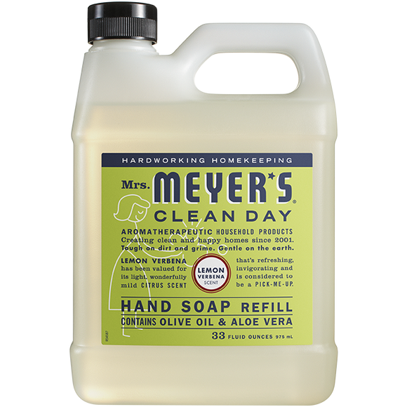 Mrs. Meyer's Lemon Verbena Liquid Hand Soap Refill – 33oz