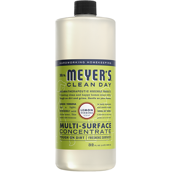 Mrs. Meyer's Lemon Verbena Multi-Surface Concentrate – 32oz