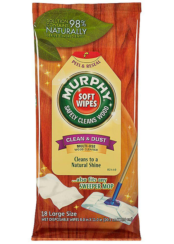 Murphy Multi-Use Wood Cleaner Wipes – 18ct