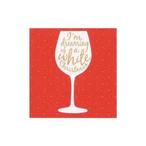 Caspari Wine Christmas Cocktail Napkins - 20pk