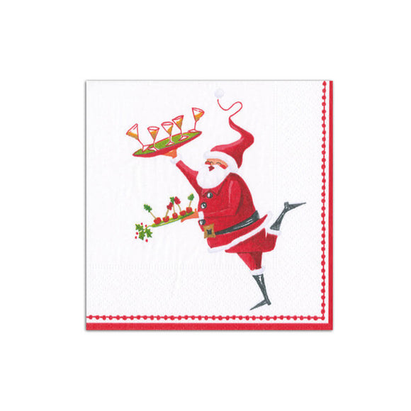 Caspari Santa Serving Cocktails Cocktail Napkins - 20pk