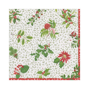 Caspari English Winter Garden Luncheon Napkins - 20pk