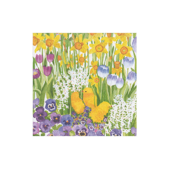 Caspari Easter Garden Cocktail Napkins - 20pk