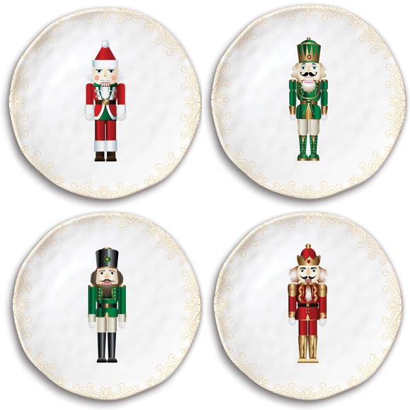 Nutcracker Melamine Accent Plates – Set of 4