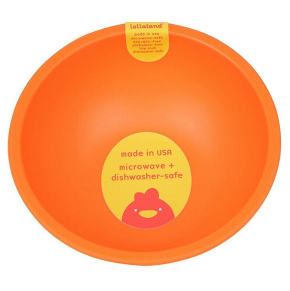 Lollaland Plastic Bowl – Orange