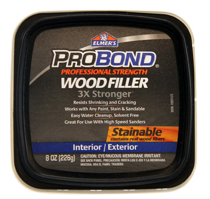 Elmer's ProBond Interior-Exterior Stainable Wood Filler – 8oz