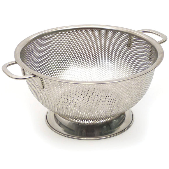 Precision Pierced Stainless Steel 5 qt Colander