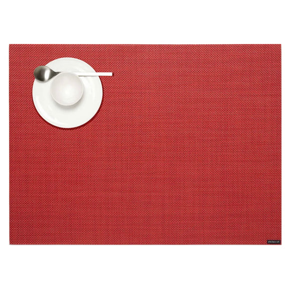 Chilewich Mini Basketweave Placemat – Pimento