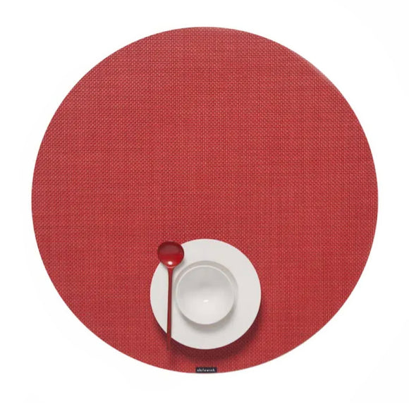 Chilewich Mini Basketweave Round Placemat – Pimento