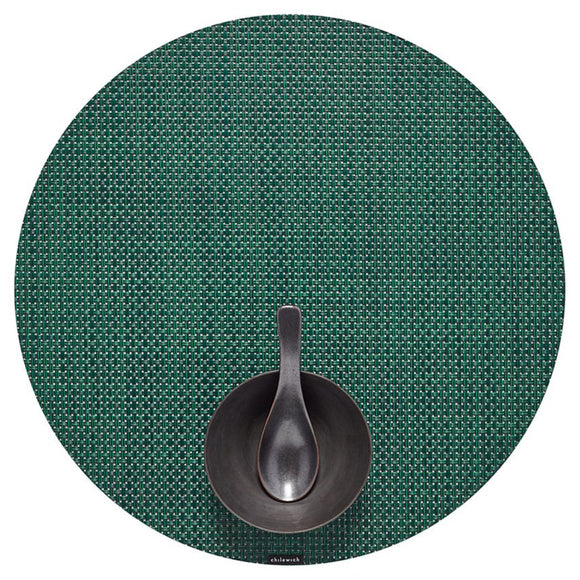 Chilewich Basketweave Round Placemat – Pine