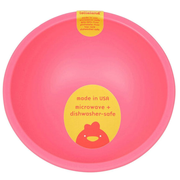 Lollaland Plastic Bowl – Pink
