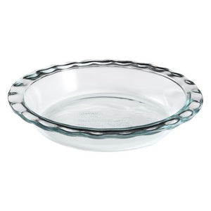 Pyrex Glass Fluted Pie Plate - 9.5""