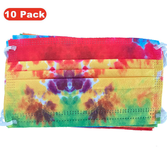 Disposable Face Mask – Rainbow – Pack of 10