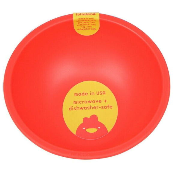 Lollaland Plastic Bowl – Red