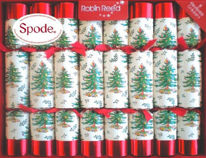 Robin Reed Holiday Spode Tree Christmas Crackers – 8 Pack