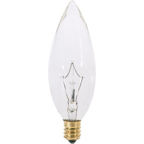 Clear Straight-Tip Chandelier Bulb – Candelabra Base